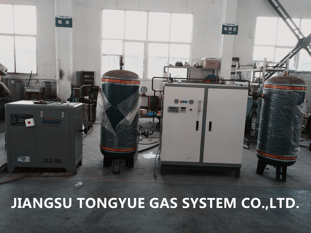 PSA N2 Generator 99%-99.9995% , Two Towers Structure Nitrogen Generation Equipment
