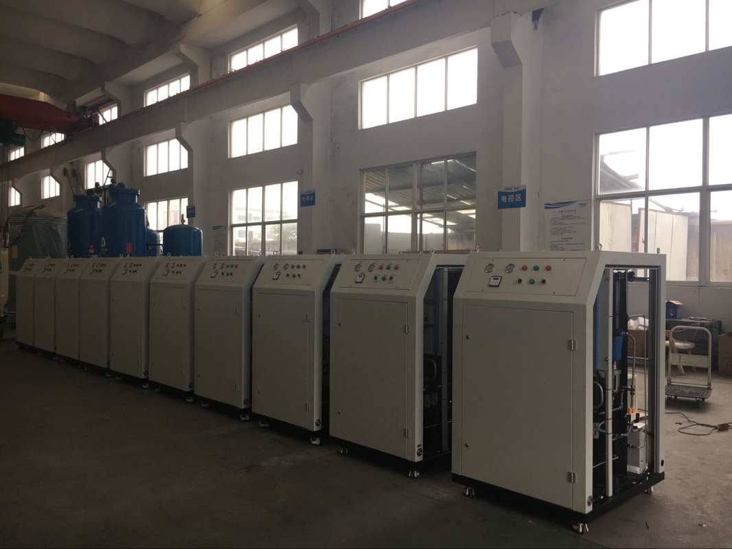 Low Dew Point Mobile Nitrogen Gas Generator For Food Industry 10Nm3/H High Purity 99%